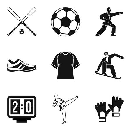 race winner: Sport protection icons set. Simple set of 9 sport protection vector icons for web isolated on white background