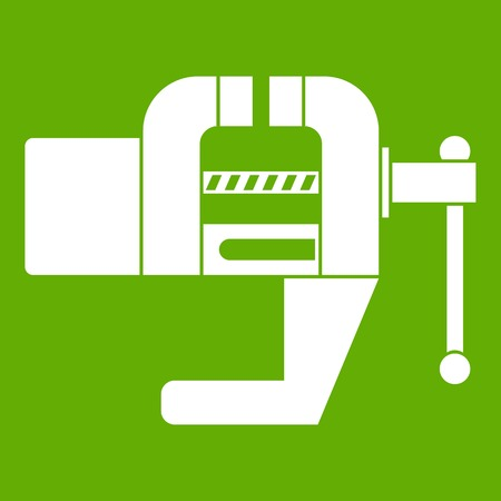 Vise tool icon green