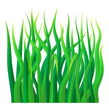 Green grass icon, realistic style