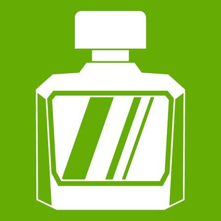 Jar of perfume icon green Stock Vector - 85823146