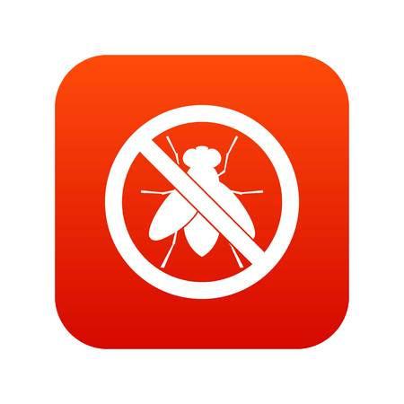 No fly sign icon digital red for any design isolated on white vector illustration Illustration