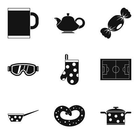 Tea time icon set. Simple set of 9 tea time vector icons for web design isolated on white background Ilustrace