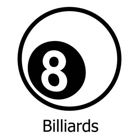 Billiards icon. Simple illustration of billiards vector icon for web