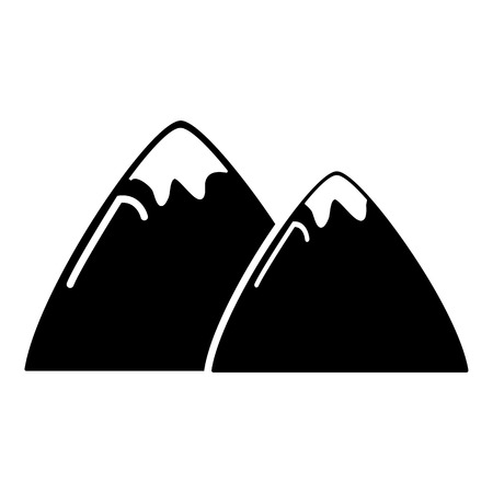 snow capped: Mountain icon . Simple illustration of mountain vector icon for web design isolated on white background Illustration