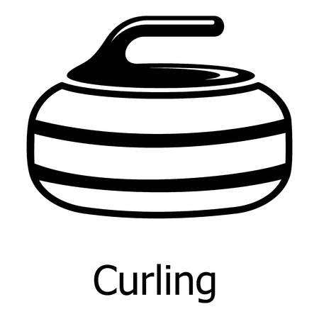 컬링 아이콘입니다. 웹에 대 한 컬링 벡터 아이콘의 간단한 그림 일러스트