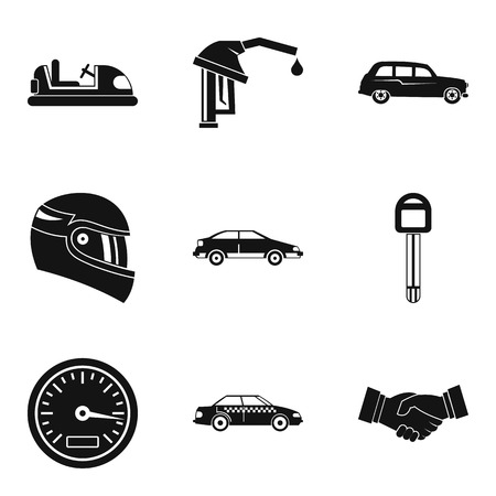 car isolated: Speed icons set. Simple set of 9 speed vector icons for web isolated on white background