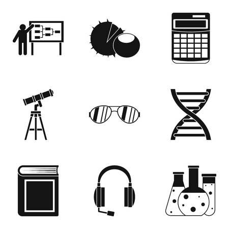 Doctrine icons set, simple style