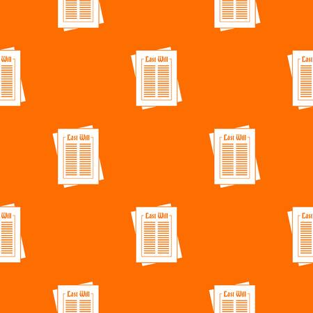 sheet: Will pattern repeat seamless in orange color for any design. Vector geometric illustration Illustration