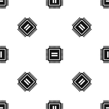 capacitor: Electronic circuit board pattern repeat seamless in black color for any design. Vector geometric illustration