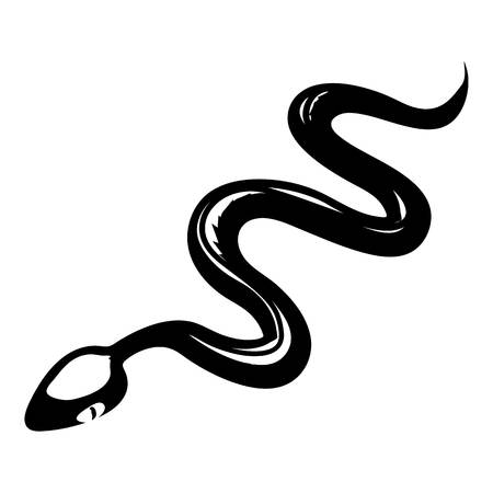 bane: Tropical snake icon, simple style
