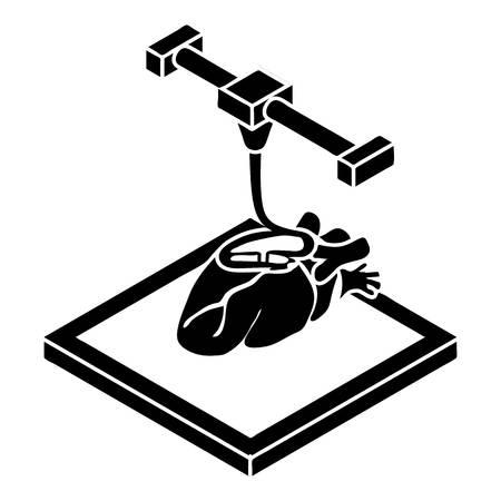 Coeur d impression icône. Simple illustration de coeur d impression vector icon pour la conception web isolé sur fond blanc Vecteurs
