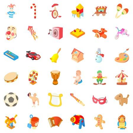 Children park icons set