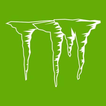 고 드 름 아이콘 흰색 녹색 배경에 고립입니다. 벡터 일러스트 레이 션 일러스트