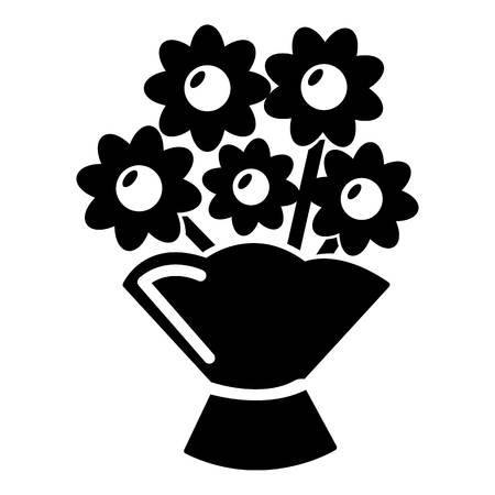 Bruiloft bloem emmer pictogram, eenvoudige stijl