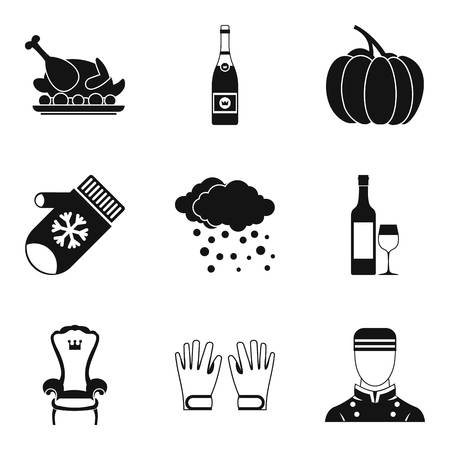 Largesse icons set. Simple set of 9 largesse vector icons for web isolated on white background