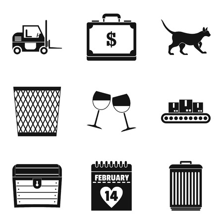 Money box icons set. Simple set of 9 money box vector icons for web isolated on white background