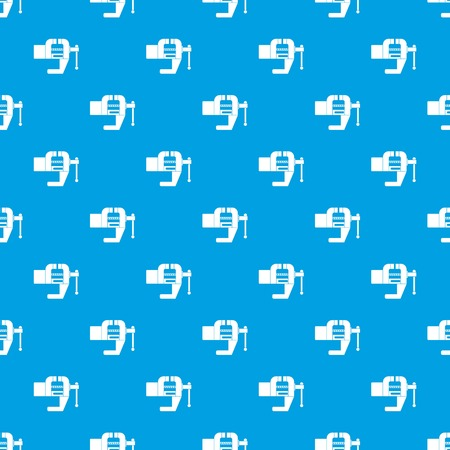 Vise tool pattern repeat seamless in blue color for any design. Vector geometric illustration