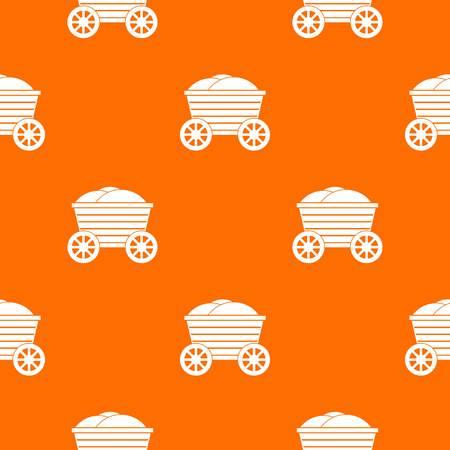 Vintage wooden cart pattern seamless