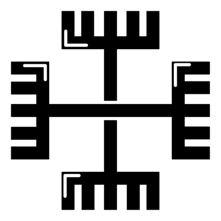 Pagan ancient symbol icon , simple style