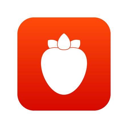 Ripe persimmon icon digital red