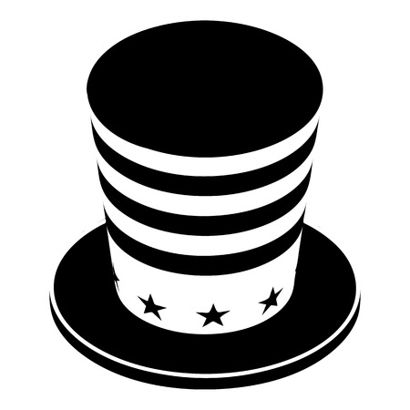 American conic hat icon, simple style