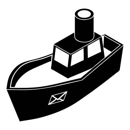 Sea ship delivery icon, simple style