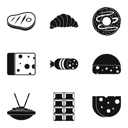 Ensemble d'icônes burger délicieux. Ensemble simple de 9 icônes vectorielles délicieux burger pour web isolé sur fond blanc