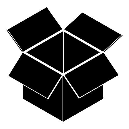Icona della casella di consegna postale. Illustrazione semplice dell'icona di vettore della scatola di consegna postale per web design isolato su fondo bianco Vettoriali