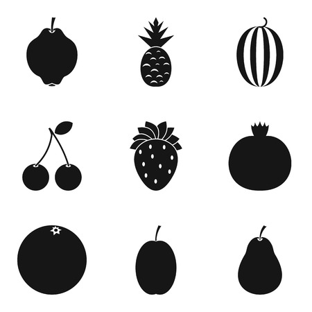 Sweet stuffing icons set. Simple set of 9 sweet stuffing vector icons for web isolated on white background