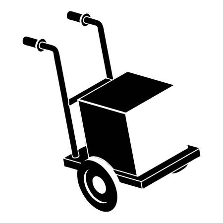 Delivery box cart icon. Simple illustration of delivery box cart vector icon for web design isolated on white background Illustration