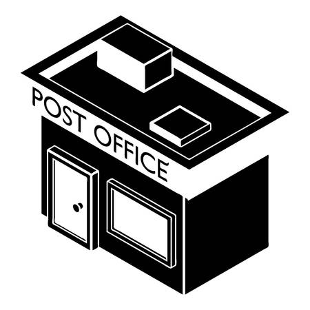 Post office icon. Simple illustration of post office vector icon for web design isolated on white background Çizim