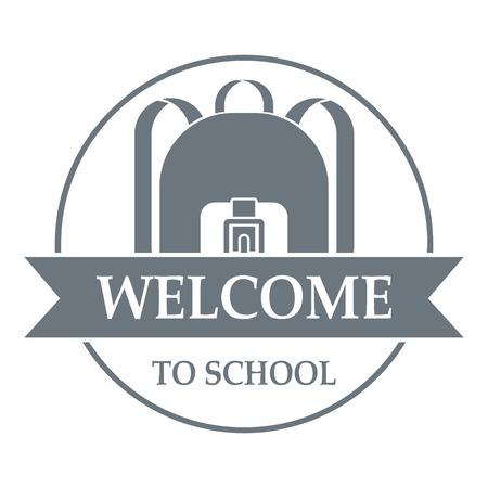 Backpack logo. Simple illustration of backpack vector logo for web Illustration
