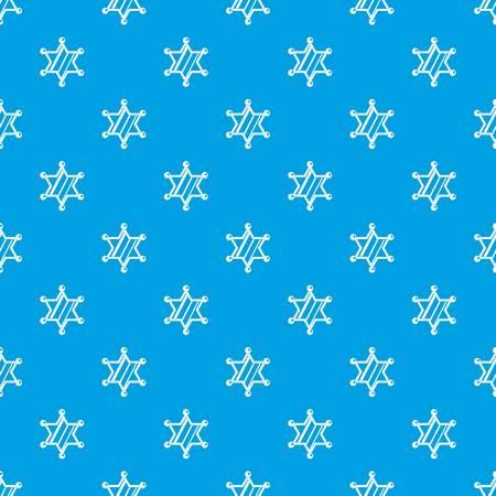 Sheriff star pattern seamless blue