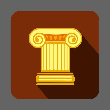ギリシャ風円柱コンセプト背景、漫画のスタイル
