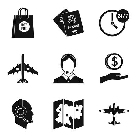 Dispatcher icons set, simple style