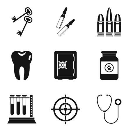 Urgent icons set, simple style