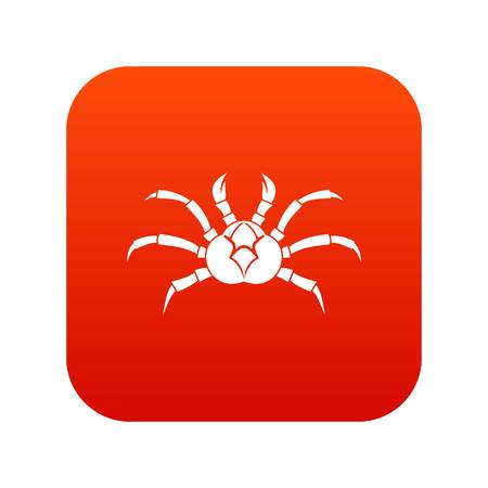 Crab icon digital red