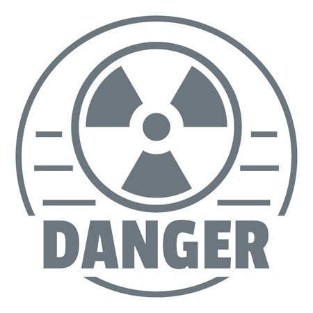 uranium: Radiation logo. Simple illustration of radiation vector logo for web