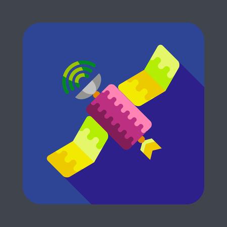 Space satellite concept de fond. illustration de bande dessinée de fond satellite vecteur de l & # 39 ; espace de satellite pour la conception de sites web Banque d'images - 86640222
