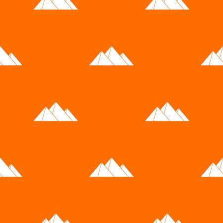 Pyramids pattern seamless Illustration