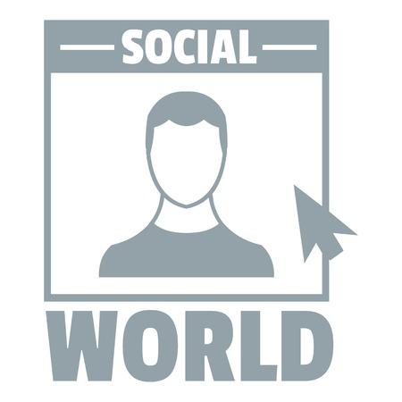 Social world logo. Simple illustration of social world vector logo for web