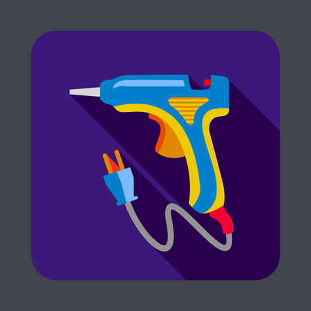 Electric glue tool concept background, cartoon style Illustration