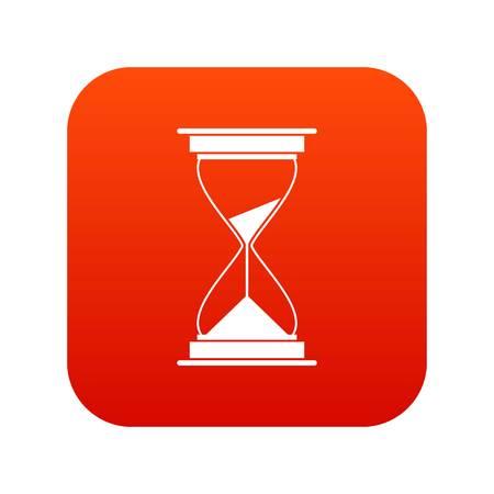 cronometro: Mira el icono digital rojo