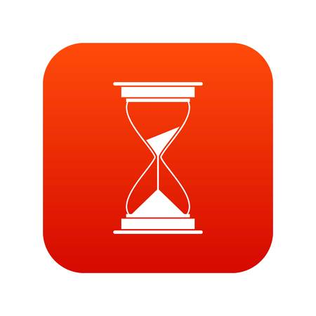 hands  hour: Watch icon digital red