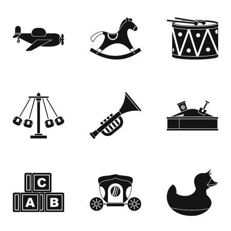 car wash: Gaud icons set, simple style