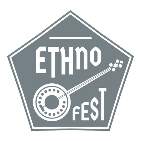 the resonator: Banjo logo, simple gray style Illustration