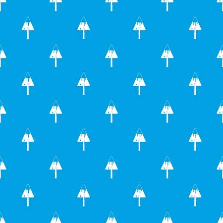 Construction trowel pattern seamless blue