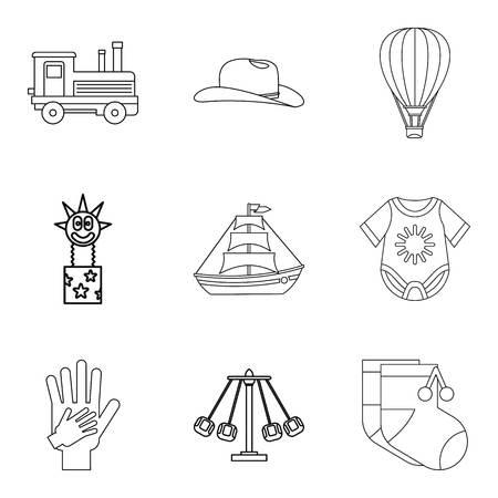 car wash: Patronage icons set, outline style