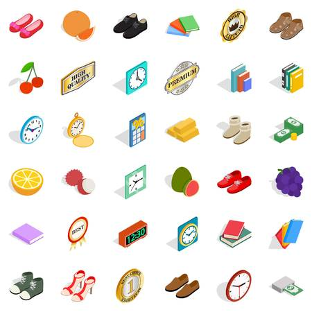 Thinness icons set, isometric style Stok Fotoğraf - 87013091