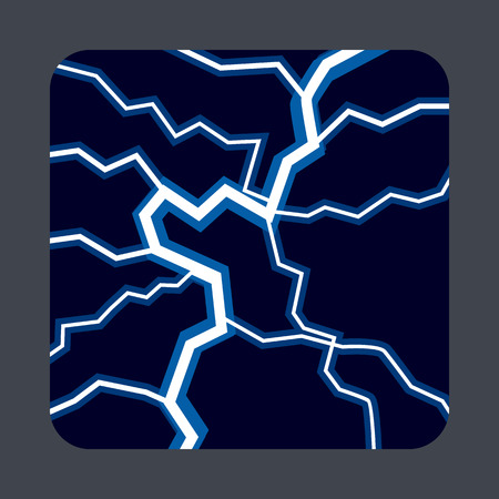 Lightning light concept background, cartoon style